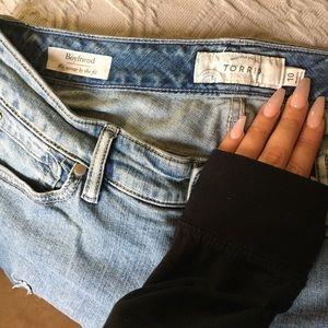 Torrid distressed boyfriend jeans.